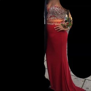 Faviana Red Prom Dress